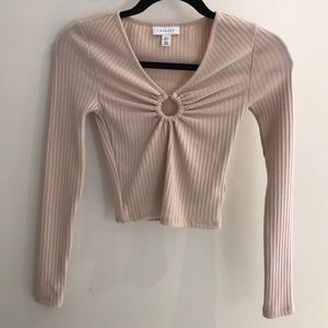 Topshop Crop Top with Cutout Detail